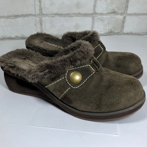 skechers fur lined mules